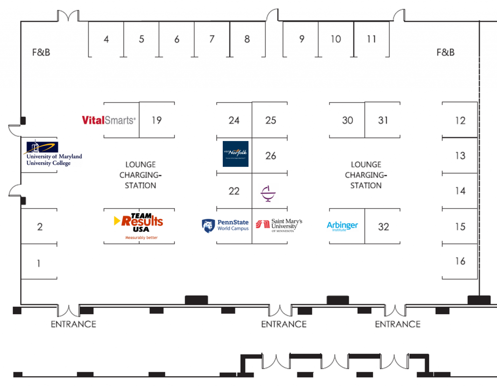map of exhibit hall booths