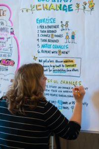 Jeanette taking illustrated notes at TOCAI19
